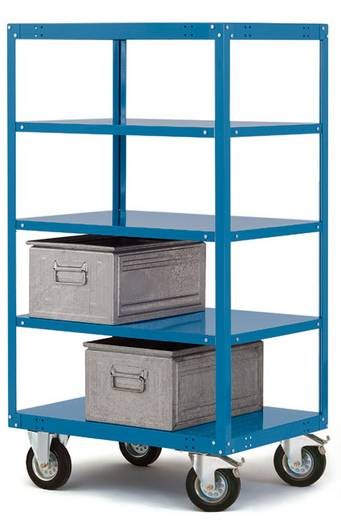 Manuflex TT4251.5007 Etagenroller Stahl pulverbeschichtet Traglast (max.): 200 kg Brillant-Blau