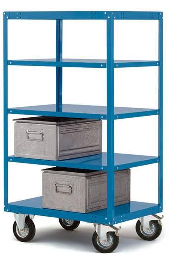 Regalwagen Stahl pulverbeschichtet Traglast (max.): 200 kg Brillant-Blau Manuflex TT4261.5007