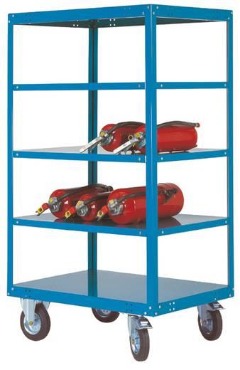 Regalwagen Stahl pulverbeschichtet Traglast (max.): 500 kg Wasserblau Manuflex TT4293.5021
