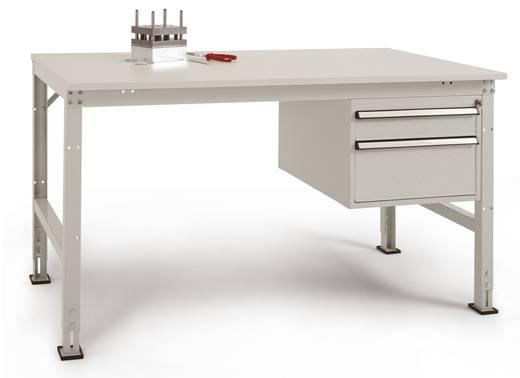 Manuflex AU5567.7035 Einzel-Arbeitstisch UNIVERSAL 1500x800x760 mm,Pl.Kunst.lichtg. RAL7035 lichtgrau