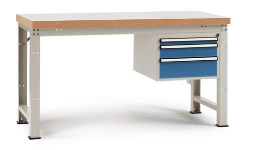 Manuflex WP5411.7035 Einzelwerkbank PROFI, komplett 1500x700x840 mm,Platte Linoleum RAL7035 lichtgrau (B x H x T) 1500 x 840 x 700 mm