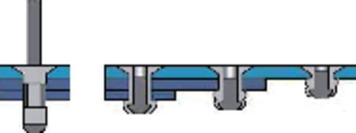 Blindniete (Ø x L) 4 mm x 11 mm Stahl Aluminium Bralo 1090004011 500 St.
