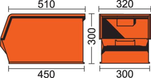 Lagerkasten Serie 14/7-2Z 37 l Blau (L x B x H) 510 x 320 x 300 mm
