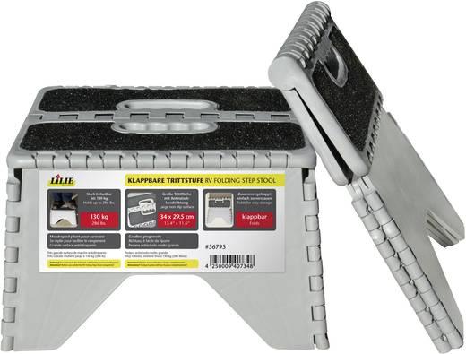 Kunststoff Montagetritt klappbar Arbeitshöhe (max.): 230 mm 56795 Silber, Schwarz 1.7 kg