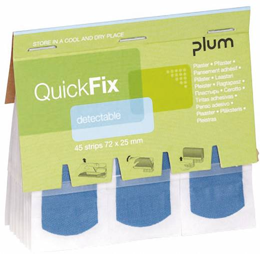 PLUM BR354045 QuickFix Nachfüllpack Detektabel Pflaster