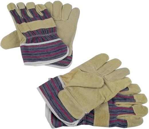 Schweinsspaltleder Arbeitshandschuh Größe (Handschuhe): Universalgröße EN 89 / 686 Brüder Mannesmann M41702 2 Paar
