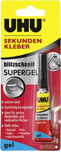 UHU blitzschnell Supergel Mehrzweckkleber 48790 3 g