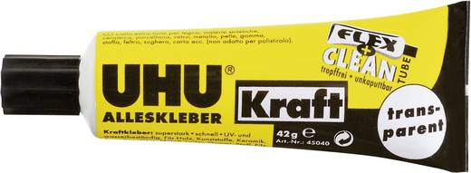 UHU Alleskleber Kraft Flex + Clean Transparent 45040 42 g
