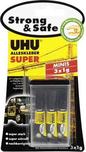 UHU Alleskleber Super Strong & Safe Minix 3x1 g 44305
