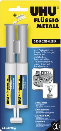 UHU Flüssigmetall Zwei-Komponentenkleber 45960 24 ml