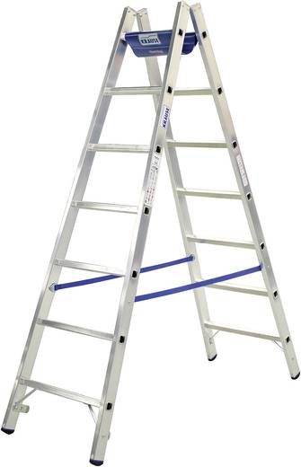 Aluminium Stufen-Doppelleiter inkl. Werkzeugablage Arbeitshöhe (max.): 4.60 m Krause 124944W Silber, Blau 13.5 kg