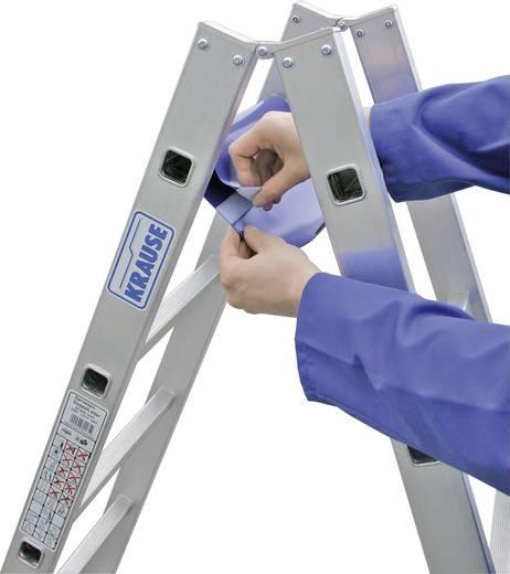 Aluminium Stufen-Doppelleiter inkl. Werkzeugablage Arbeitshöhe (max.): 5.10 m Krause 124951W Silber, Blau 16.5 kg