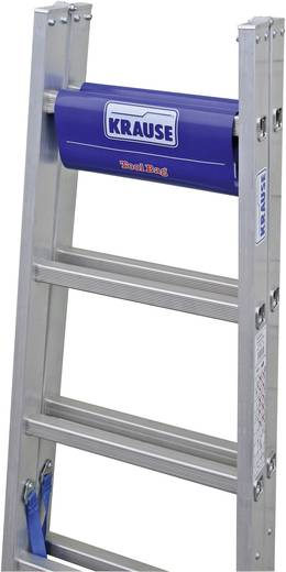 Aluminium Stufen-Doppelleiter inkl. Werkzeugablage Arbeitshöhe (max.): 3.05 m Krause 124906W Silber, Blau 6.3 kg