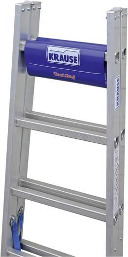 Aluminium Stufen-Doppelleiter inkl. Werkzeugablage Arbeitshöhe (max.): 3.55 m Krause 124920W Silber, Blau 8.5 kg