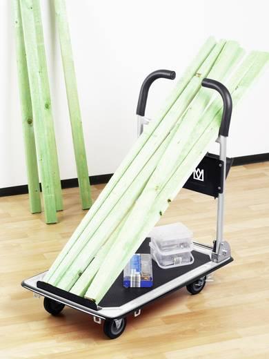 meister werkzeuge 8985620 plattformwagen klappbar mit ablagefach stahl traglast max 150 kg. Black Bedroom Furniture Sets. Home Design Ideas
