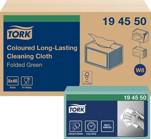 TORK Farbige Reinigungstücher Grün 194550 Anzahl: 320