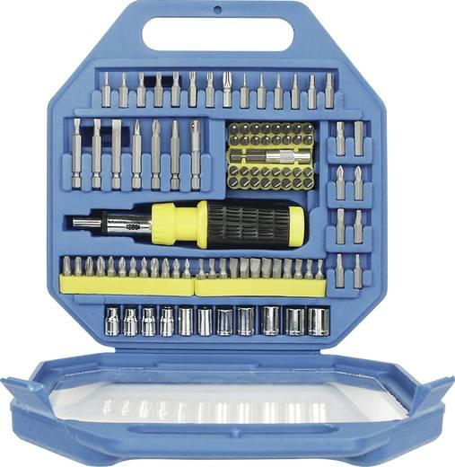 Bit-Set 101teilig M29810 480544 Schlitz, Kreuzschlitz Phillips, Kreuzschlitz Pozidriv, Außen-Sechskant, T-Profil, Innen