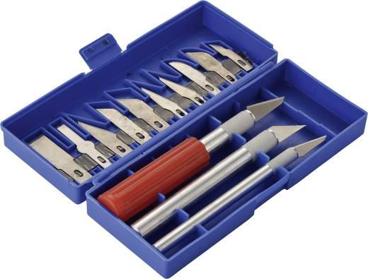 Schnitzarbeits-Set 16tlg. Basetech Skalpell Schablonenmesser Präzisionsmesser