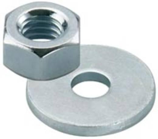 Sechskantmuttern Stahl galvanisch verzinkt 25 Paar Fischer 510515