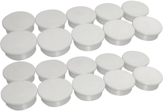 Magnete Farbe Weiß (Ø) 25 mm Anzahl: 10