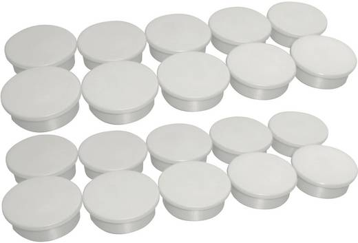 Magnete Farbe Weiß (Ø) 25 mm Anzahl: 20