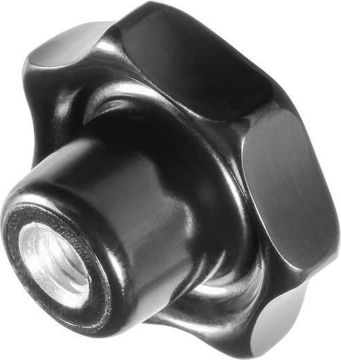 TOOLCRAFT Sternengriff M5 Griff: Kunststoff schwarz; MS-Buchse 10 St.