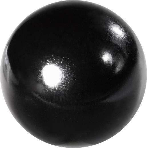 TOOLCRAFT Kugelknöpfe M6 Kunststoff schwarz; Gewindebuchse: Messing 25 St.