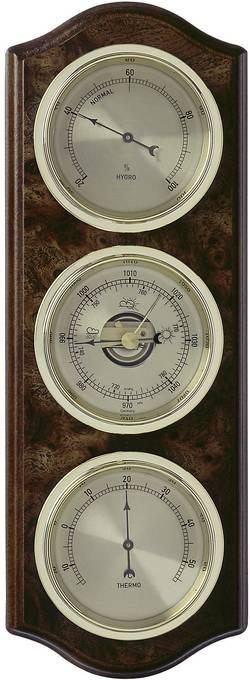 Analogová meteostanice TFA 123 x 37 x 337 mm 20.1076.20.B, kořenové dřevo, ořechová