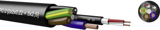Kombikabel 4 x 0.22 mm² + 3 G 2.50 mm² Schwarz Kabeltronik 720045000 100 m