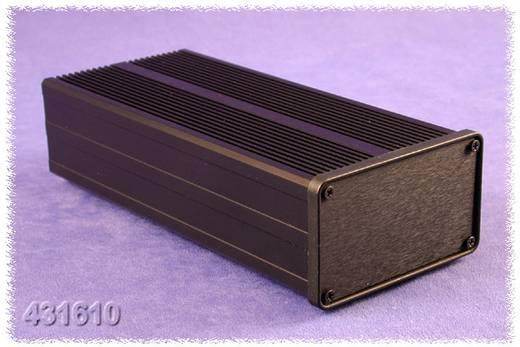 Endplatte Aluminium Schwarz Hammond Electronics 031624 1 St.