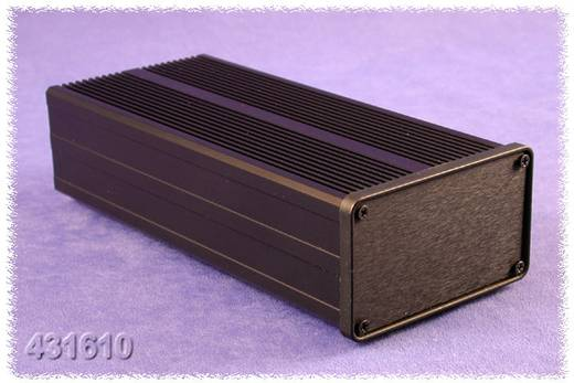 Kühlkörper-Gehäuse 200 x 90 x 51 Aluminium Schwarz Hammond Electronics 431610 1 St.
