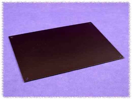 Montageplatte (L x B x H) 400 x 222 x 2 mm Aluminium Schwarz Hammond Electronics HW1710BKPL 1 St.