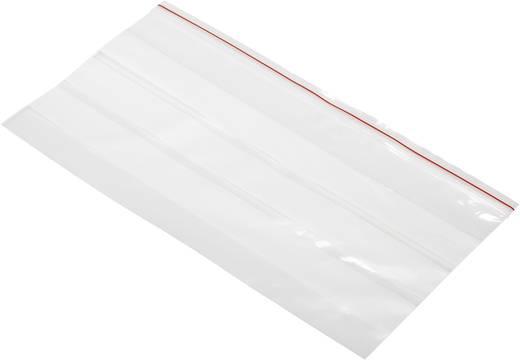Druckverschlussbeutel mit Beschriftungsstreifen (B x H) 220 mm x 120 mm Transparent Polyethylen