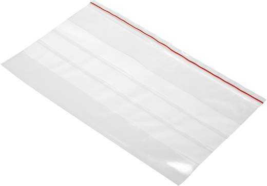 Druckverschlussbeutel mit Beschriftungsstreifen (B x H) 250 mm x 150 mm Transparent Polyethylen