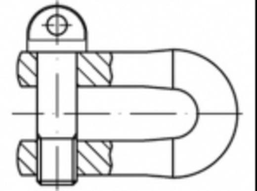 Schäkel 100 kg M5 Stahl verzinkt TOOLCRAFT 486745 DIN 82101 10 St.