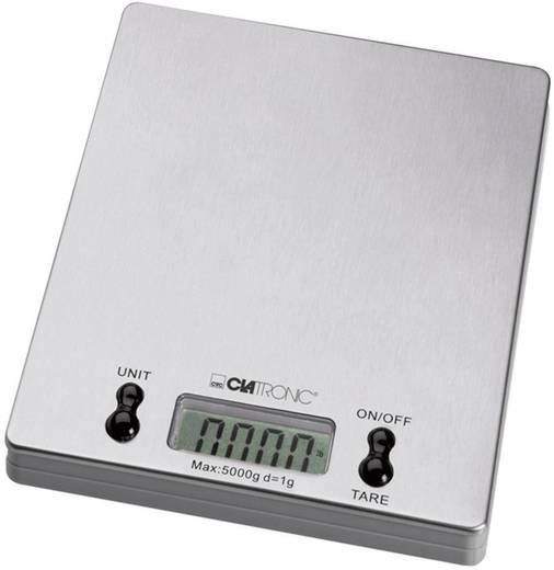 Küchenwaage digital Clatronic Balance de cuisine Wägebereich (max.)=5 kg Edelstahl