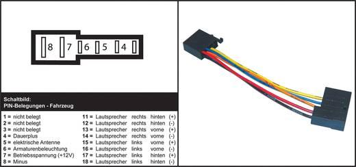 ISO Adapter Stecker AIV ISO Stecker auf DIN Buchse
