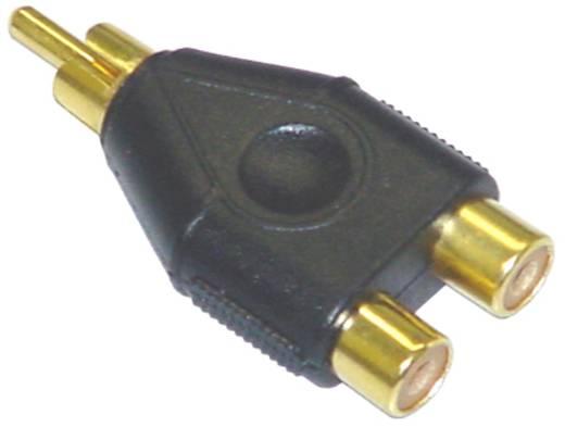 Cinch-Adapter AIV [1x Cinch-Stecker - 2x Cinch-Kupplung]