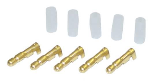 Car HiFi Rundstecker 5er Set 2.5 mm² 4 mm AIV vergoldet