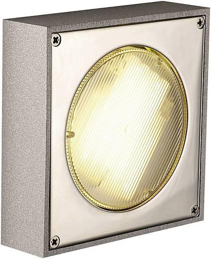 Außenwandleuchte Energiesparlampe, LED GX53 9 W SLV Quadrasyl 111131 Silber-Grau