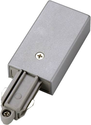 Hochvolt-Schienensystem-Komponente Einspeiser SLV 1phasig 143032 Silber-Grau