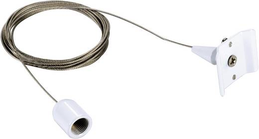 Hochvolt-Schienensystem-Komponente Seilabhängung SLV 1phasig 143141 Weiß