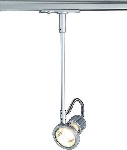 Hochvolt-Schienensystem-Leuchte 1phasig GU10 50 W Halogen SLV Kaspo 143422 Silber-Grau