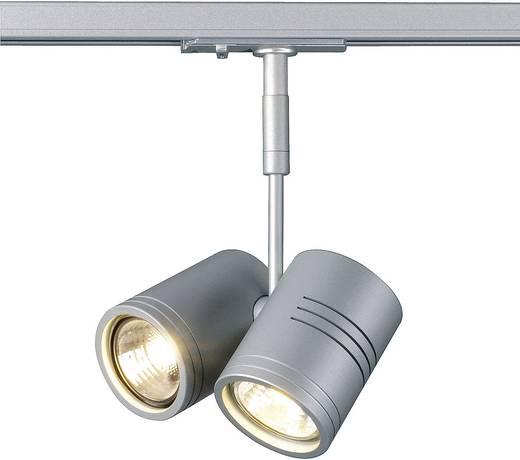 Hochvolt-Schienensystem-Leuchte 1phasig GU10 100 W Halogen SLV Bima II 143432 Silber