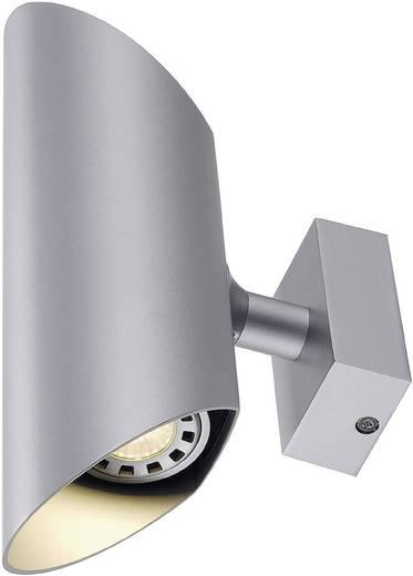 Wandleuchte GU10 100 W Halogen SLV Ova Wall I 147112 Silber-Grau