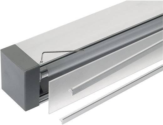 Bad-Wandleuchte Leuchtstofflampe G5 35 W SLV Q-Line 155002 Aluminium (Natur), Anthrazit