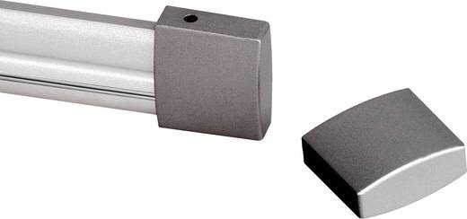 Hochvolt-Schienensystem-Komponente Endkappe SLV 184142 Silber-Grau