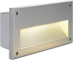 Image of Außeneinbauleuchte E14 Energiesparlampe 40 W SLV Brick Downunder 229062 Silber-Grau