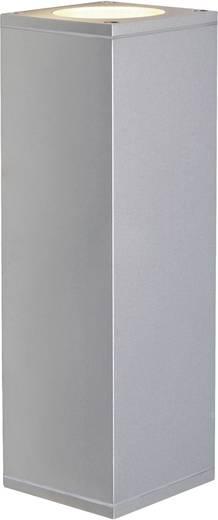SLV Theo Up & Down 229536 Außenwandleuchte Halogen, LED GU10 70 W Aluminium (gebürstet)