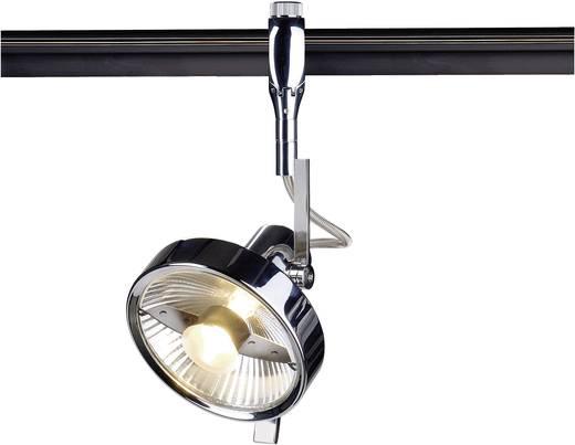 Hochvolt-Schienensystem-Leuchte Easy Tec II Chrom GU10 75 W SLV Yoki Chrom